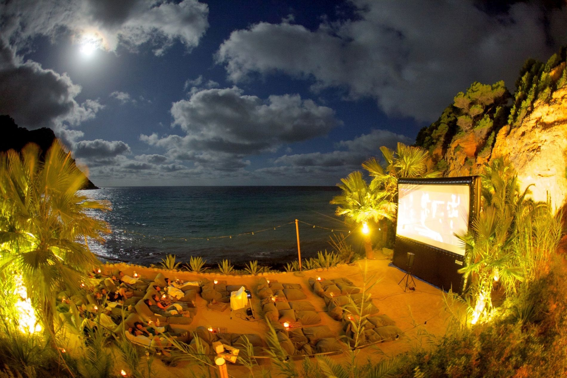 Outdoor cinema in Ibiza