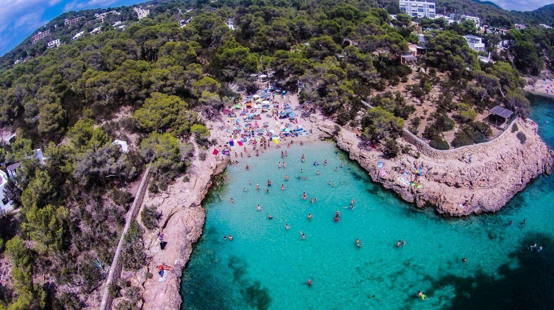 Cala Gracioneta aerial view