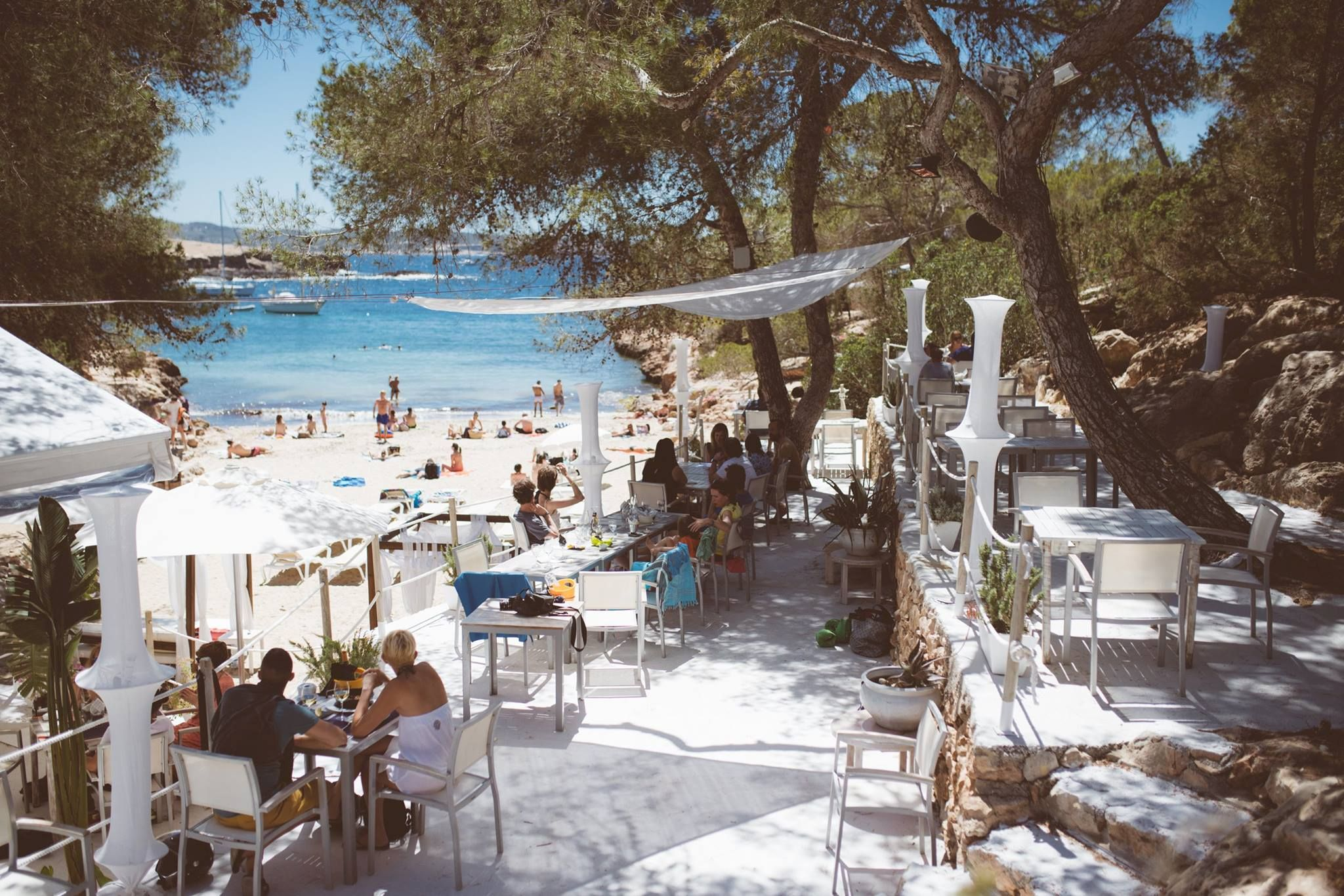 Beach restaurant at Cala Gracioneta