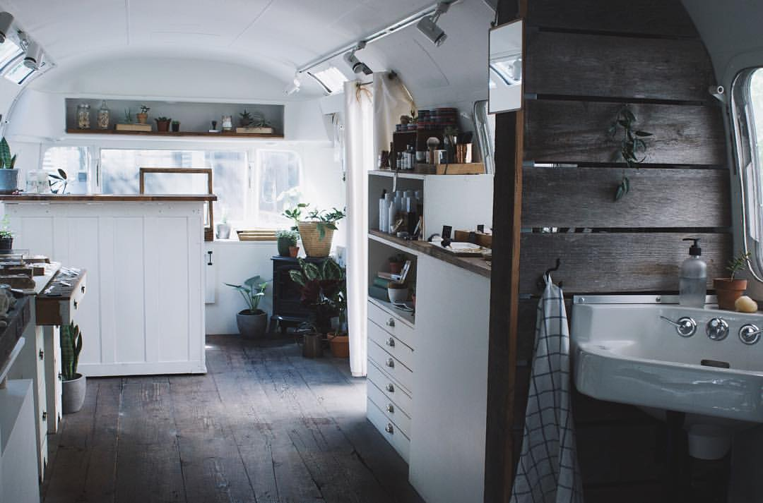 Converted airstream shop