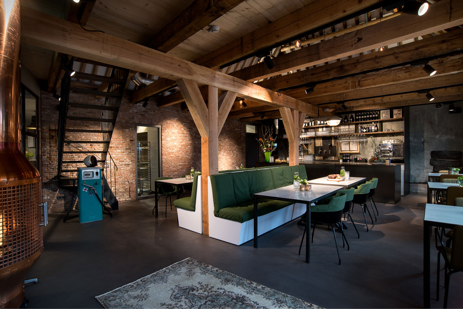 Old Garage Turned Hip Restaurant and Meeting Space in Amstelveen