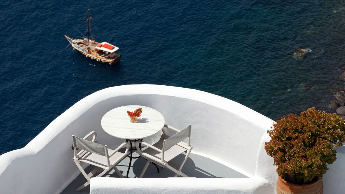 Balcony in Oia