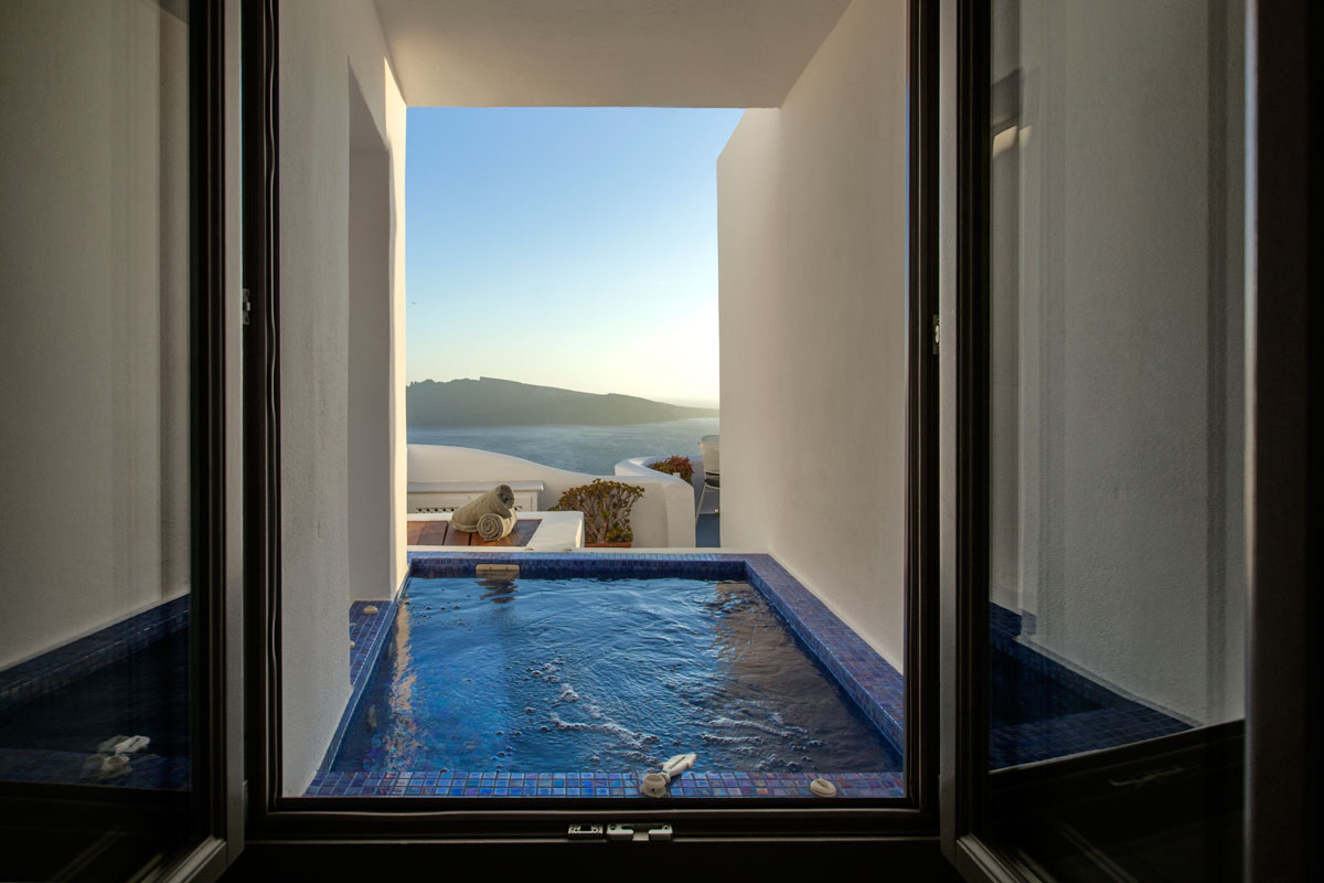 Indoor-outdoor hot tub