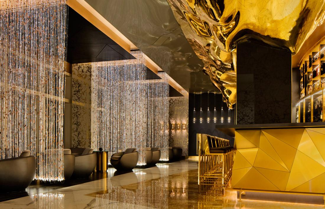 Luxurious Art Deco bar at Burj Al Arab Jumeirah