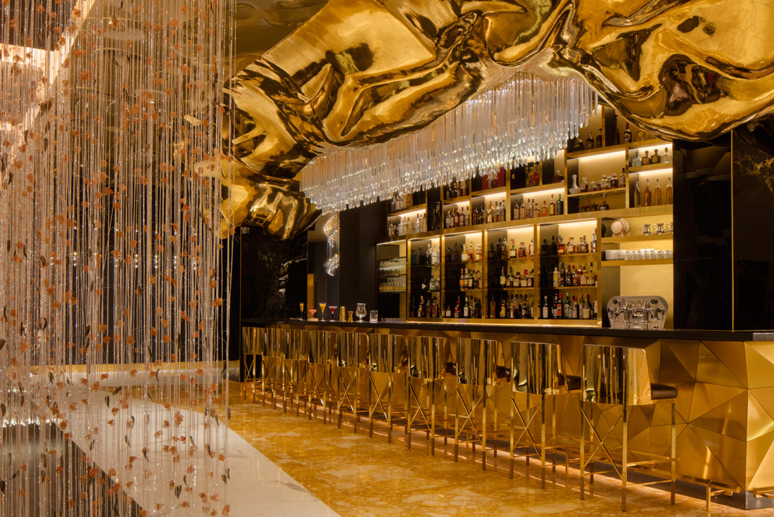Bar decked out in gold leaf