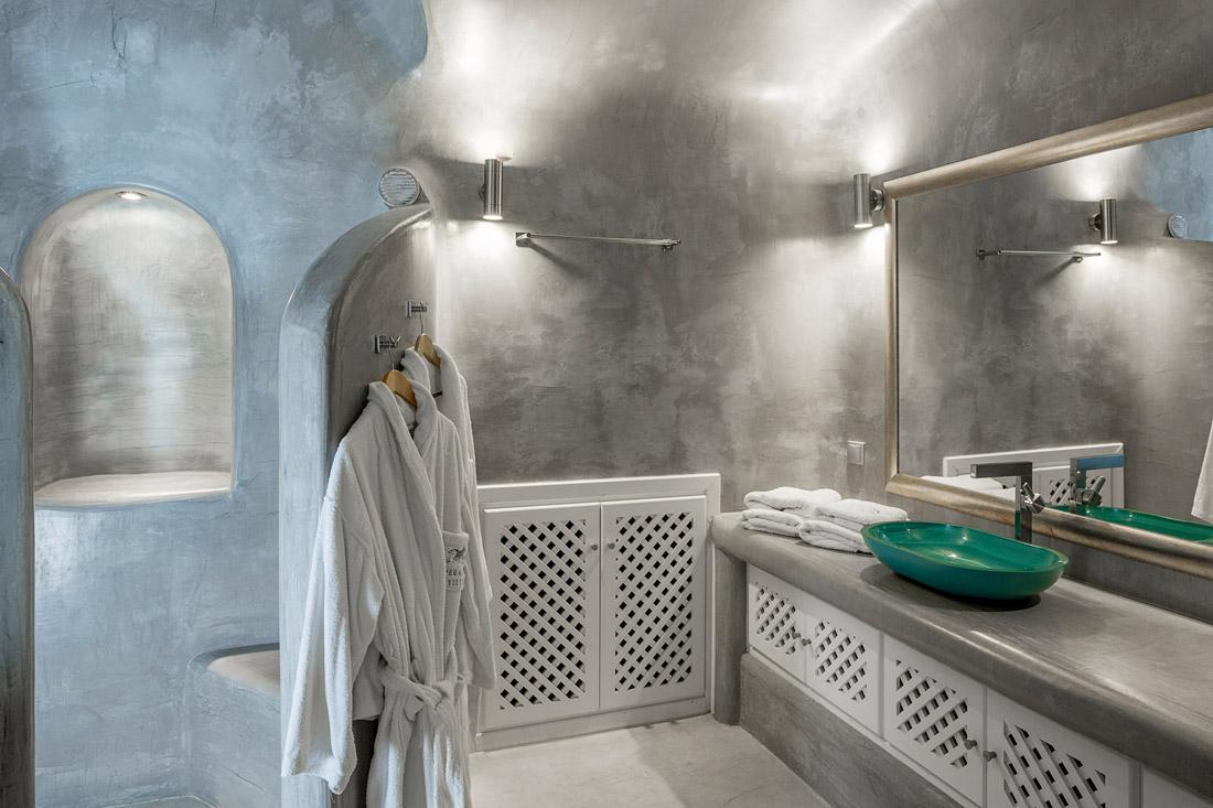 Bathroom with walk-in rain shower