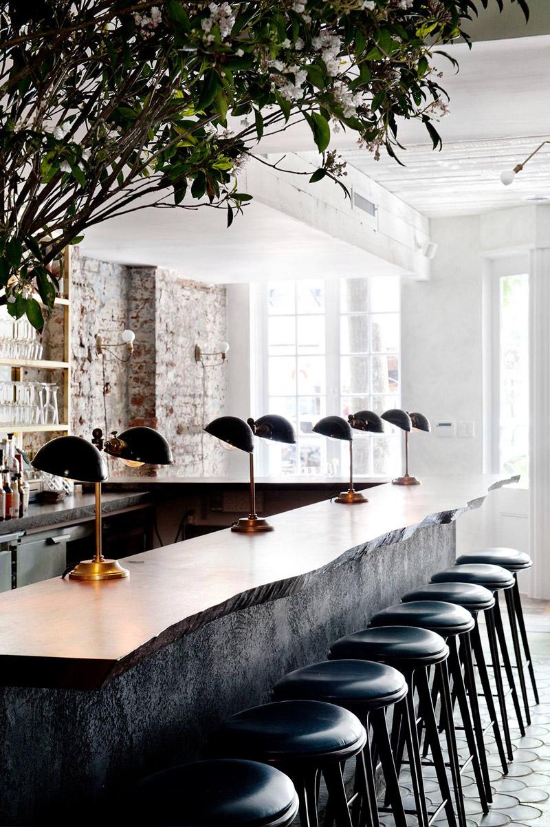 Walnut timber bar