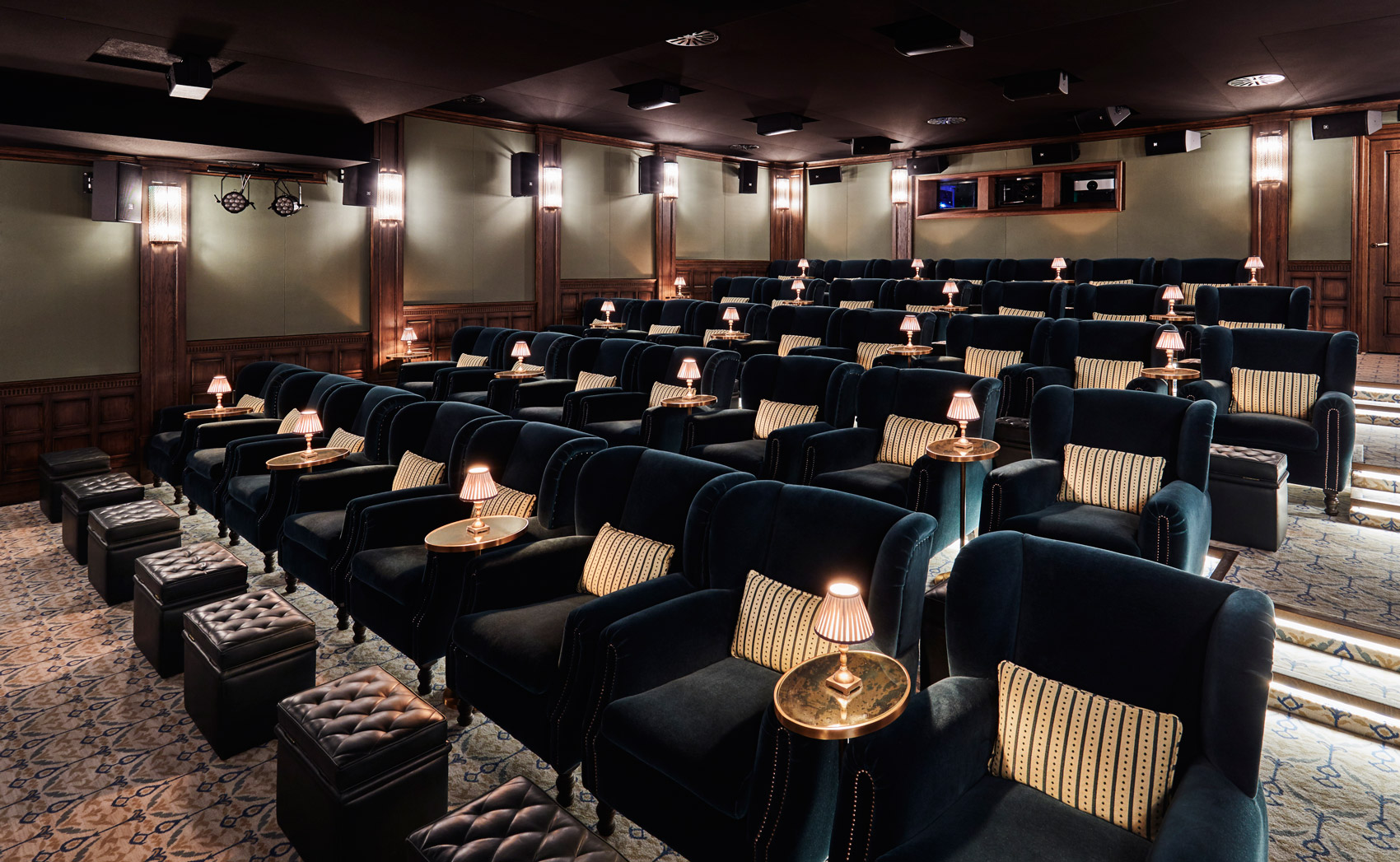 37-seat screening room