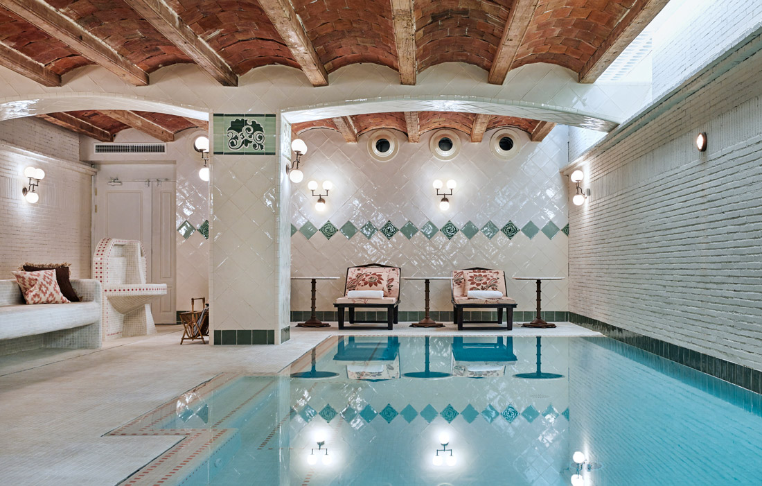 Spa with heated indoor pool