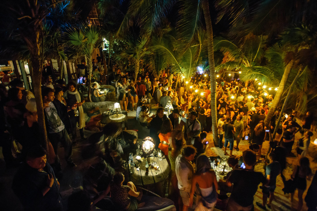 Full moon party in Mexico
