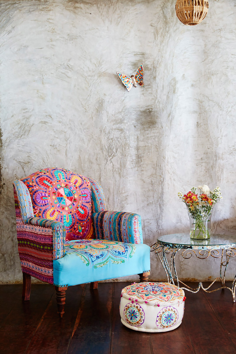 Rustic decor in vibrant colors
