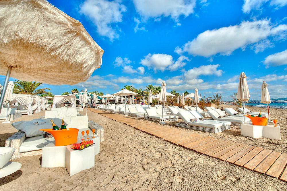 Beach club in Ibiza