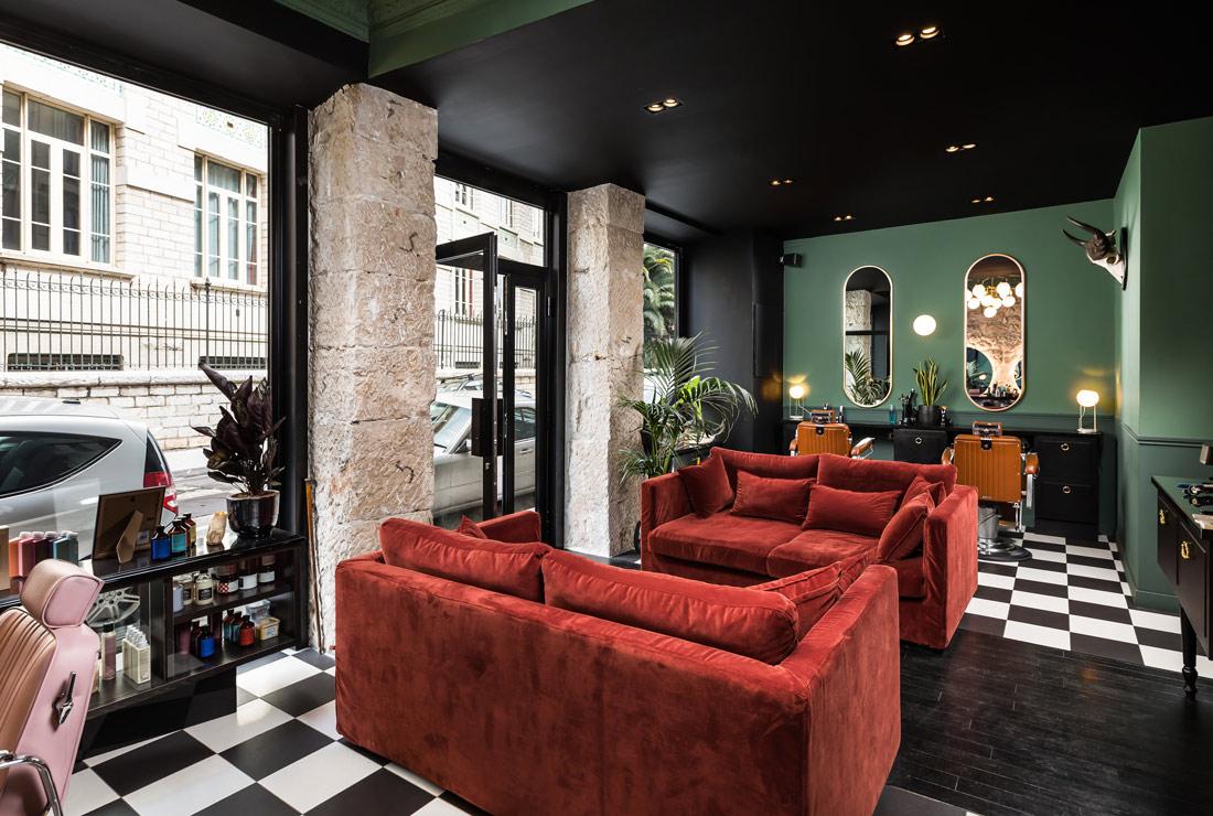 Plush velvet sofas