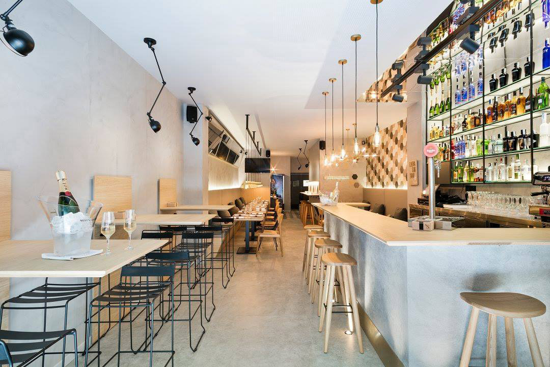 Modern tapas bar in Barcelona