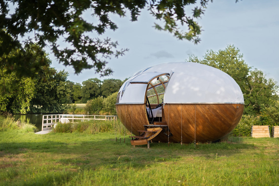 Glamping in the French countryside