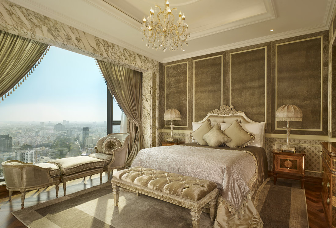 Room with stunning views over Saigon skyline