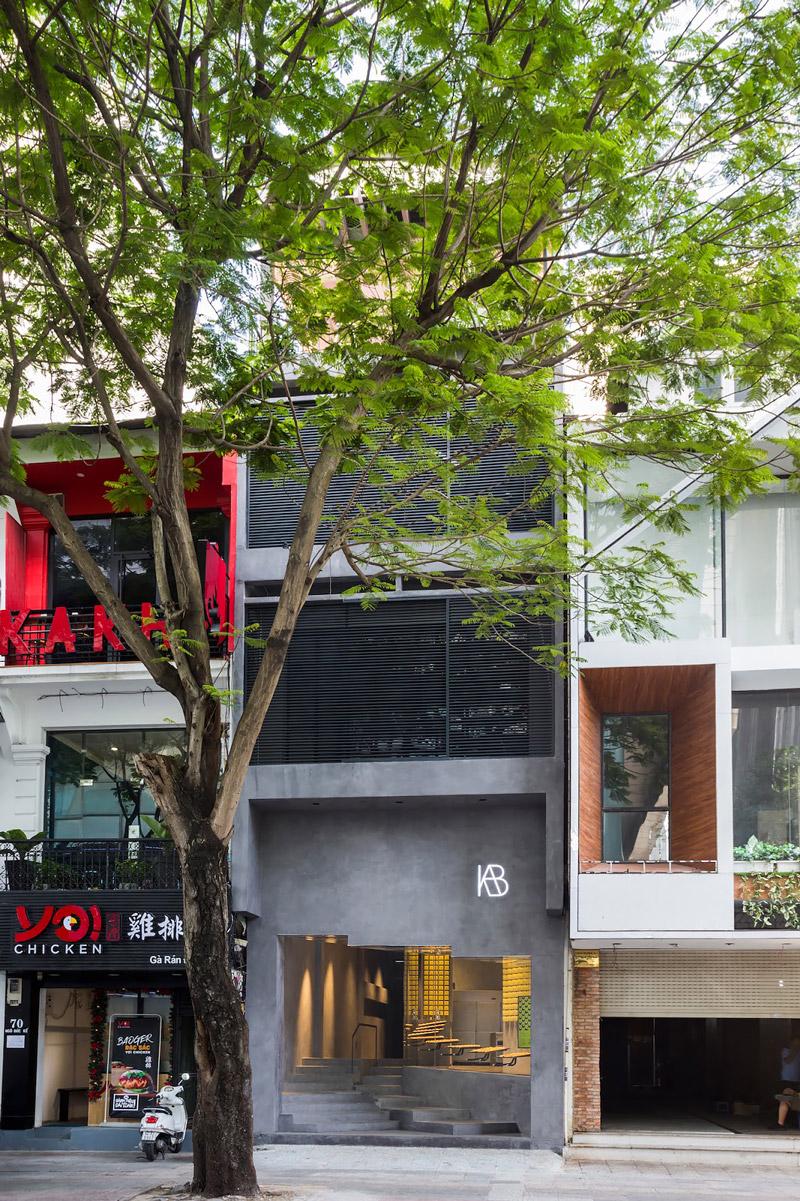 Concrete building in Ho Chi Minh City