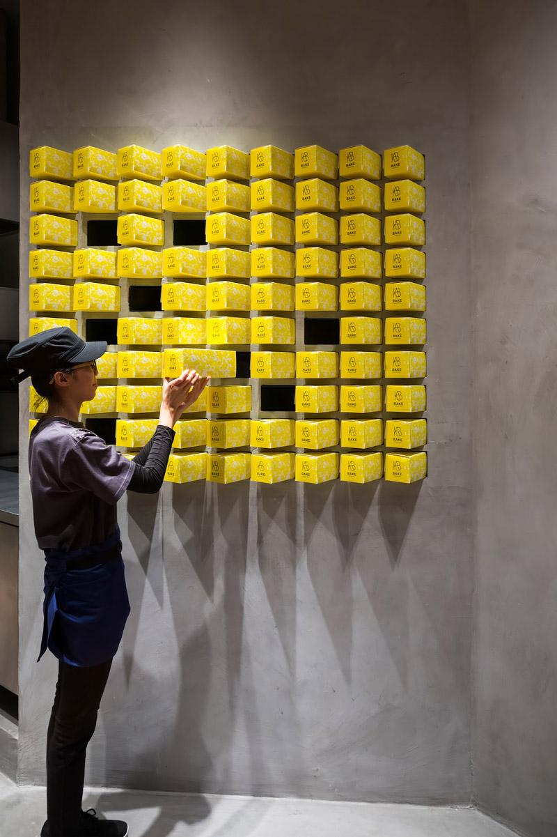Yellow tart boxes